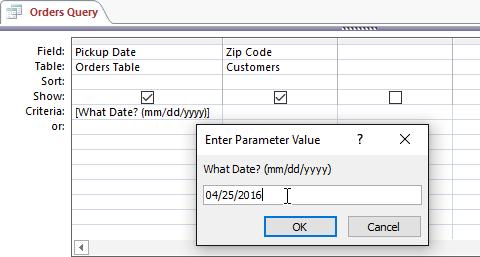 کوئری پارامتری : دریافت مقدار جستجو در کوئری از کاربر (درس دوازدهم اکسس 2016)