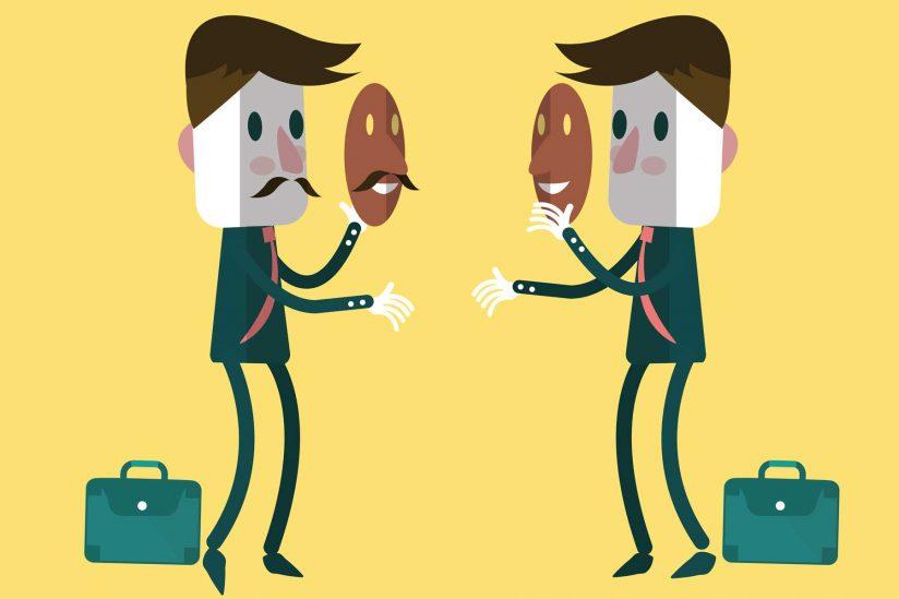 میزان همکاری و همفکری افراد در کار: در واقع او طرف کیست؟