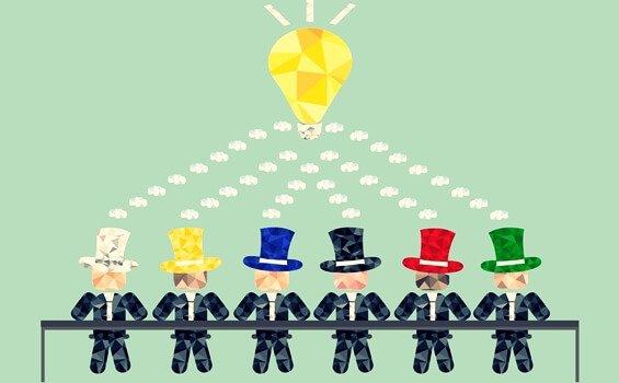 تکنیک شش کلاه تفکر ، روشی کاربردی برای تفکر در کار گروهی
