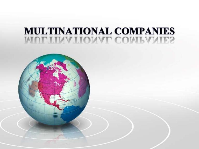 ملاحظات استراتژیک برای مؤسسات چند ملیتی